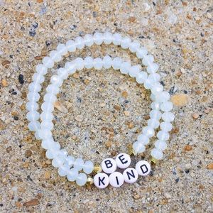 "Personalized Beaded Bracelet ""Be Kind"""